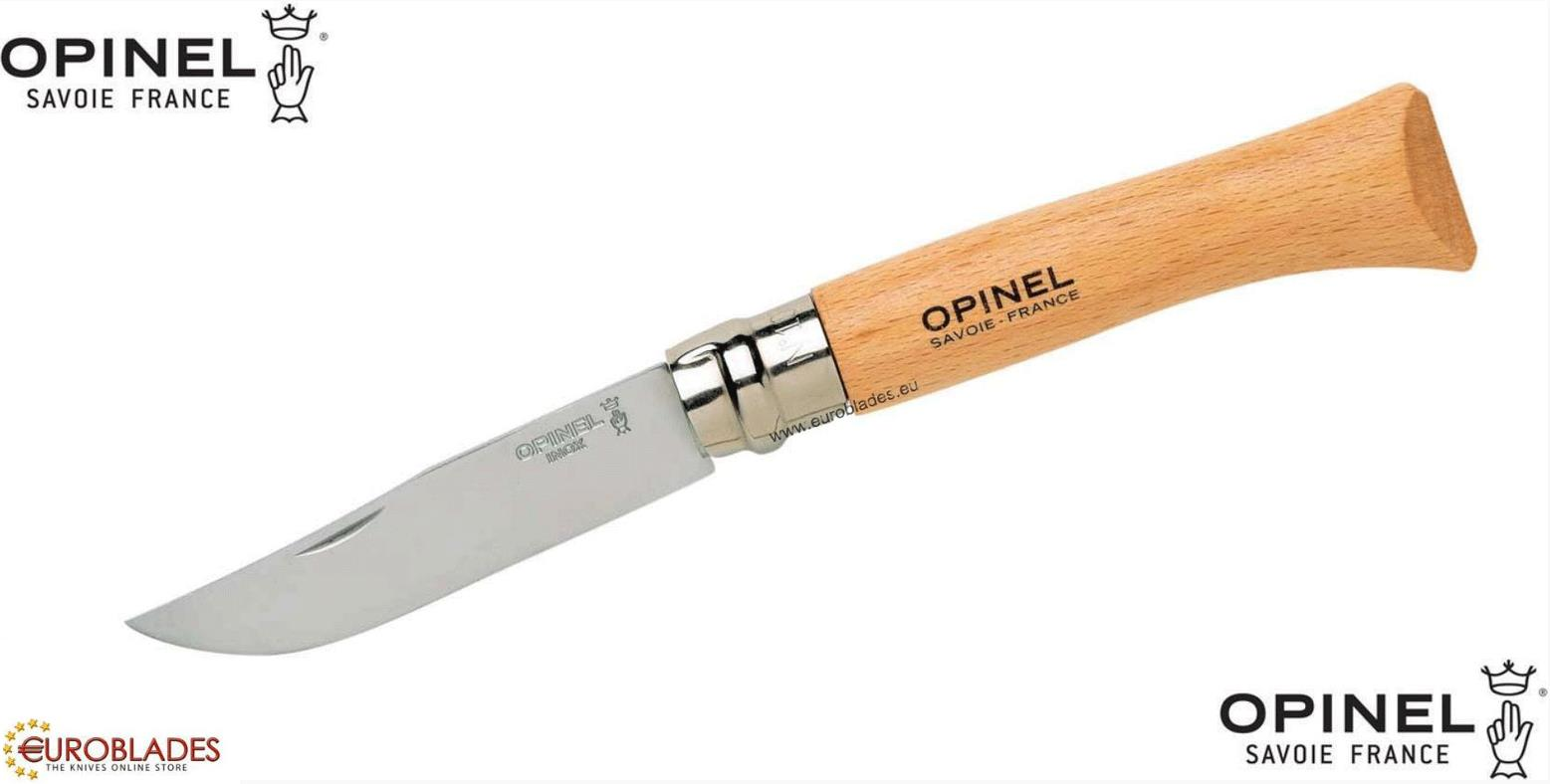 Opinel France, Tourist and camping knife with folding blade.The knife is made of stainless steel model: 12c27,.Blade size of 10 cm and total length of 20.5 cm. Manufacturer: Opinel France