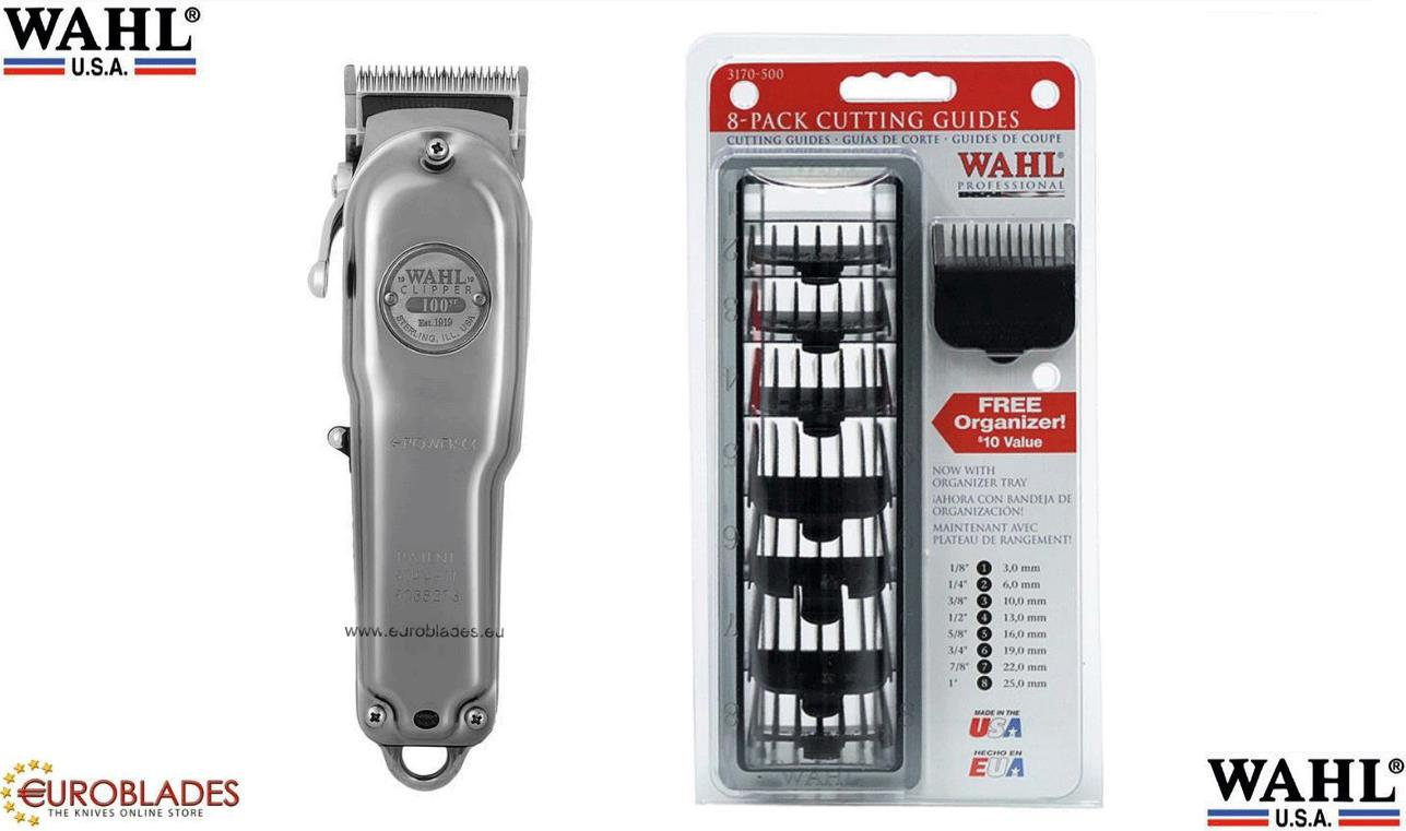 "Wahl ""100 Year"", Professional Barber clipper powered by built-in rechargeable batteries which last about 60-70 minutes uninterruptable usage, Manufacturer: Wahl"