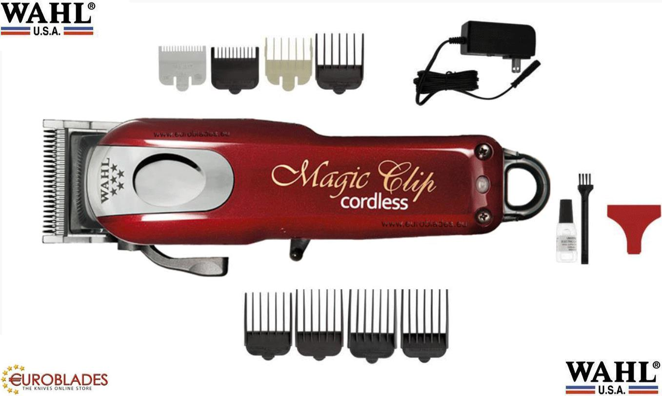 "Wahl ""Magic Clip 5 Star"", Professional Barber clipper powered by built-in rechargeable batteries which last about 80-90 minutes uninterruptable usage, Manufacturer: Wahl"